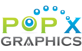 Logo for Pop X Graphics web design company