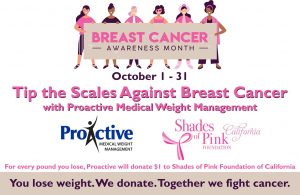 """""""TIP THE SCALES AGAINST BREAST CANCER"""" @ Proactive Medical Weight Management"""